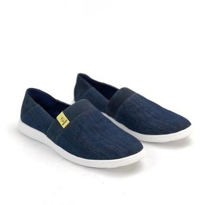 Cole Haan Ella Grand Slip On Denim Sneakers 10